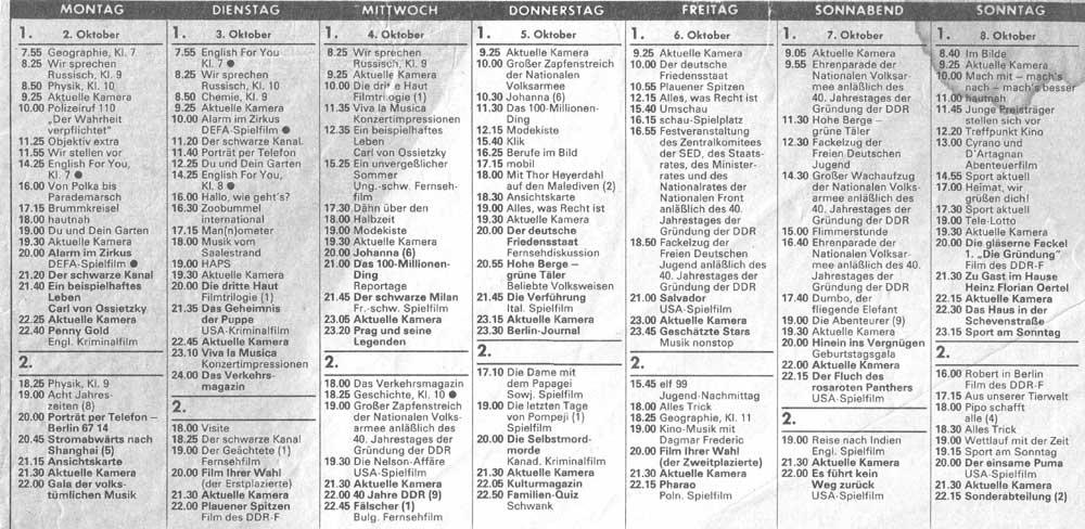 DDR Fernsehprogramm